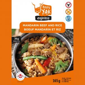 Le bœuf mandarin et riz de Happy Yak